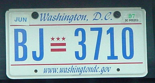 Not-so-edge DC plates used by the Bush administration