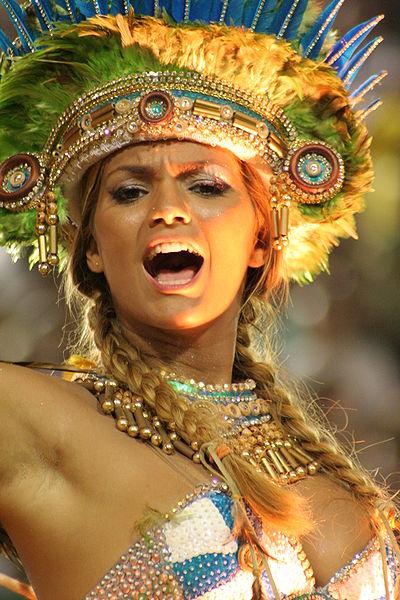 Brazilian singer Kelly Key leading some Carnival festivities
