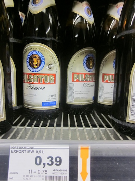 Beer at 39 cents a bottle