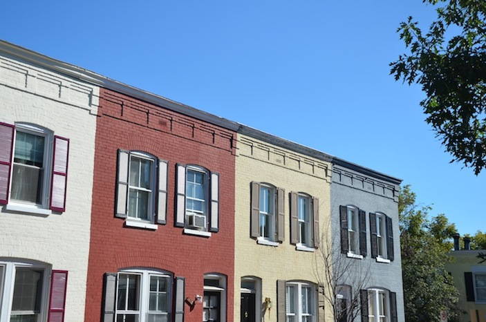 Georgetown's colorful row houses