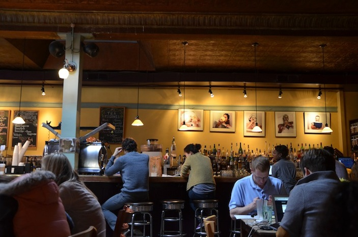 Cafe patrons at Adams-Morgan's Tryst