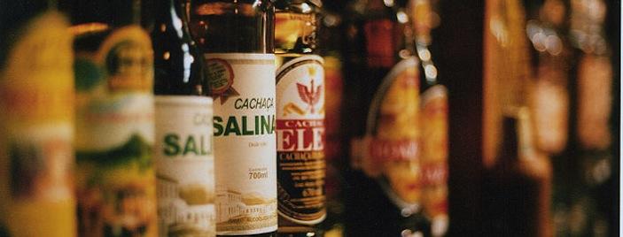 Cachaça on the shelf in a Brazilian bar (image credit: Diogo Melo/soundsandcolours.com)